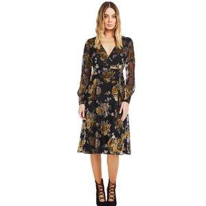 ASTR the Label Sonya Midi Wrap Dress